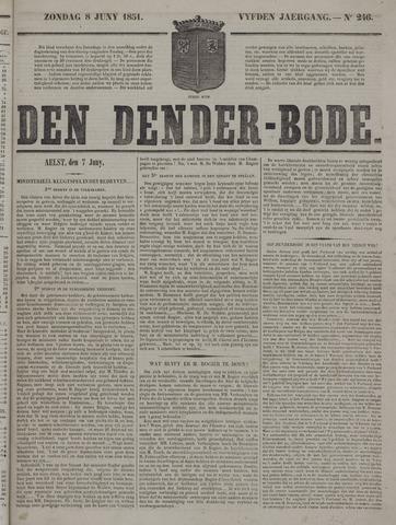 De Denderbode 1851-06-08