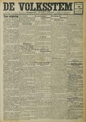 De Volksstem 1926-06-16