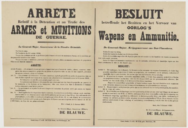 Tekstaffiches 1919