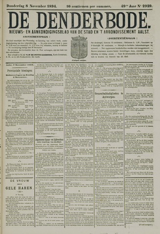 De Denderbode 1894-11-08