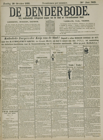 De Denderbode 1895-10-20