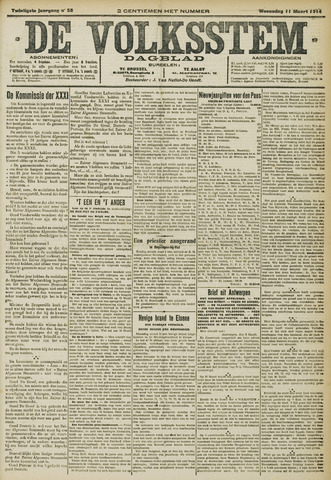 De Volksstem 1914-03-11