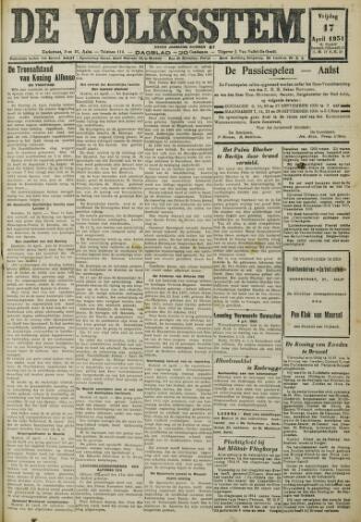 De Volksstem 1931-04-17