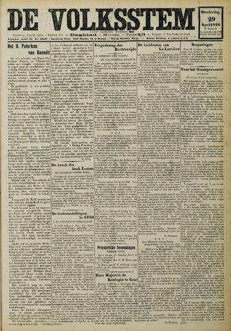 De Volksstem 1926-04-29
