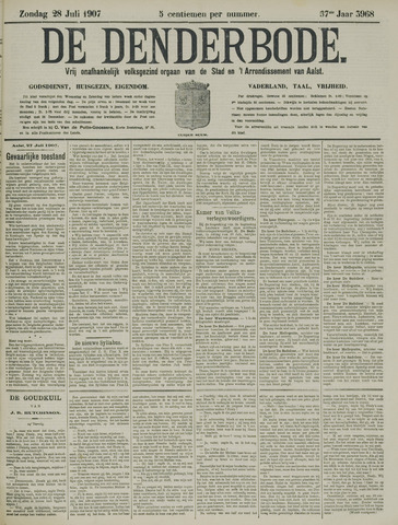 De Denderbode 1907-07-28