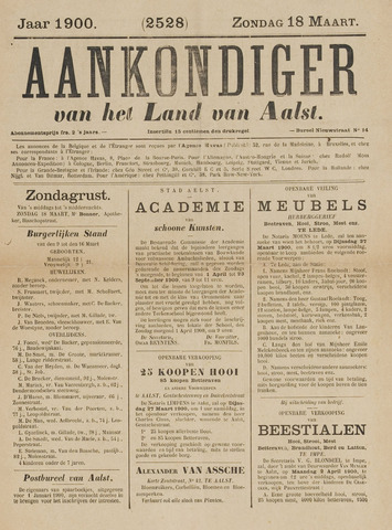 Aankondiger 1900