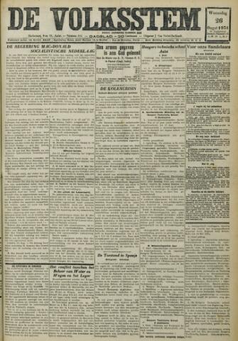 De Volksstem 1931-08-26
