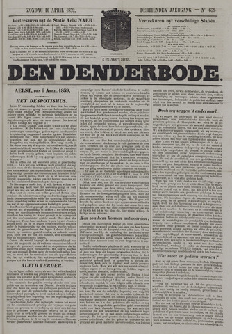 De Denderbode 1859-04-10
