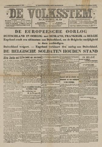 De Volksstem 1914-08-06