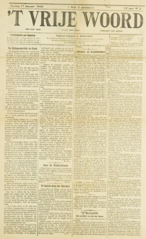 't Vrije Woord 1909