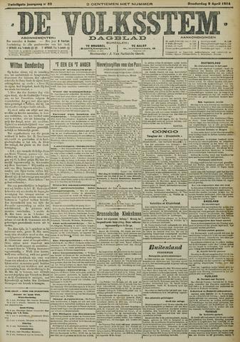 De Volksstem 1914-04-09