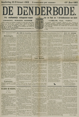 De Denderbode 1912-02-15