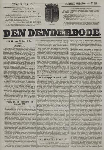De Denderbode 1854-07-30