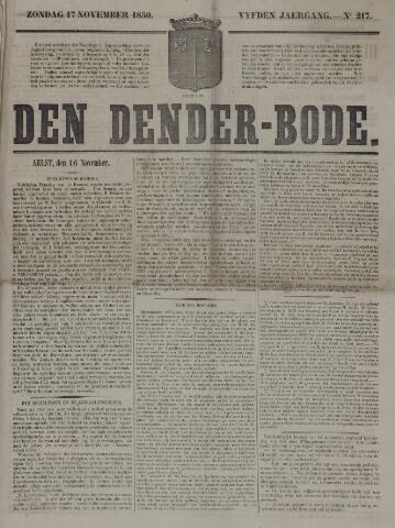 De Denderbode 1850-11-17