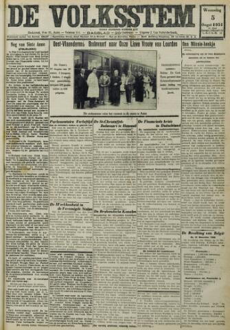 De Volksstem 1931-08-05