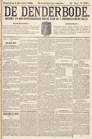 De Denderbode 1886-12-02