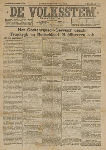De Volksstem 1914-07-31