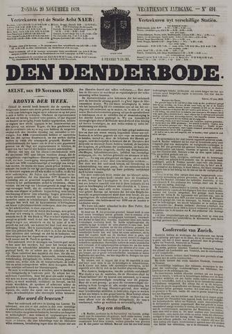 De Denderbode 1859-11-20