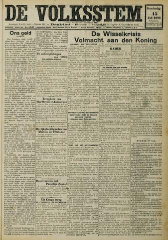 De Volksstem 1926-07-15