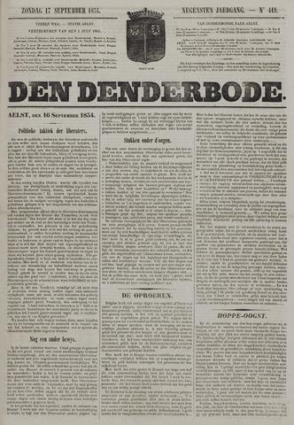 De Denderbode 1854-09-17