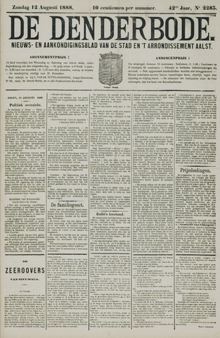 De Denderbode 1888-08-12
