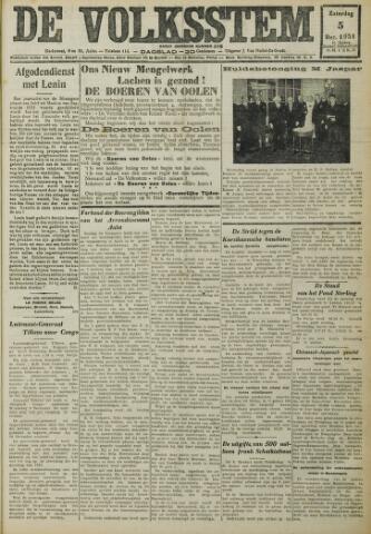 De Volksstem 1931-12-05