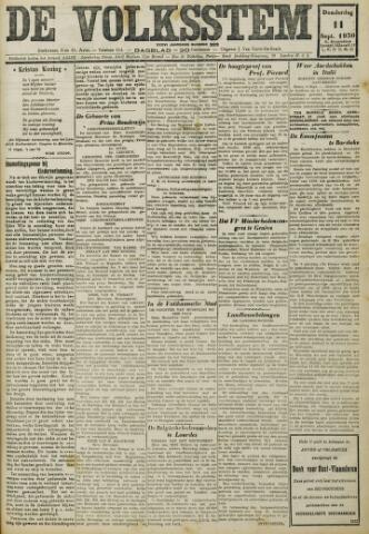 De Volksstem 1930-09-11