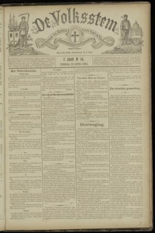 De Volksstem 1895-04-12