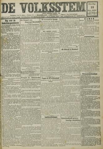 De Volksstem 1931-02-21