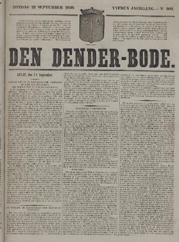 De Denderbode 1850-09-22