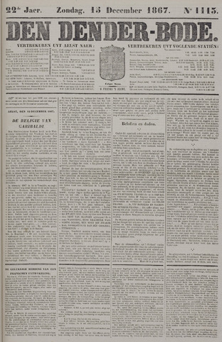 De Denderbode 1867-12-15