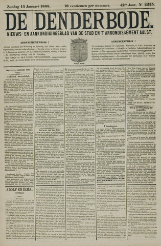 De Denderbode 1888-01-15