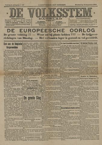 De Volksstem 1914-08-13