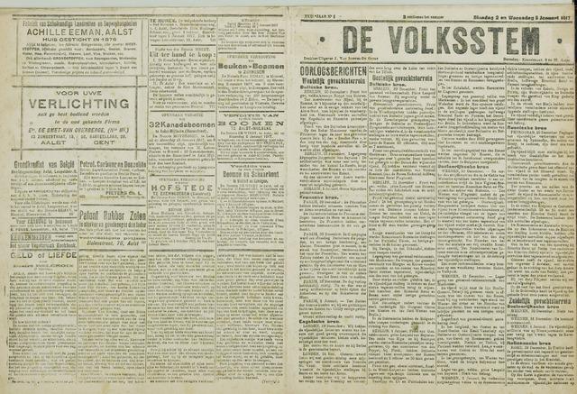 De Volksstem 1917