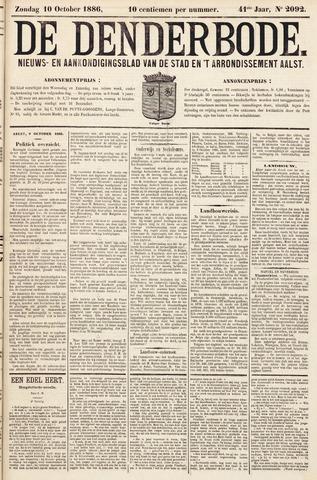De Denderbode 1886-10-10