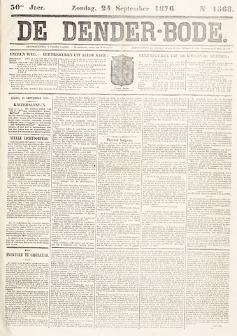 De Denderbode 1876-09-24