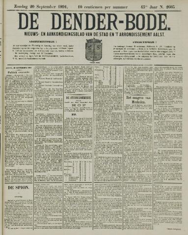 De Denderbode 1891-09-20