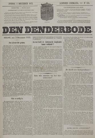 De Denderbode 1853-12-04