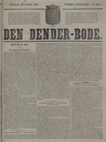 De Denderbode 1851-04-27