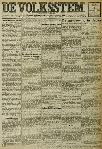 De Volksstem 1923-09-07