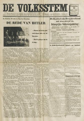 De Volksstem 1938-09-14