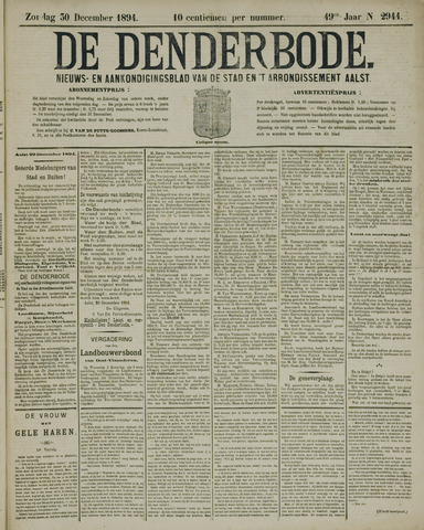 De Denderbode 1894-12-30