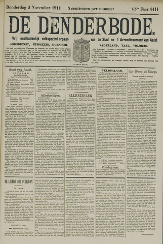 De Denderbode 1911-11-02