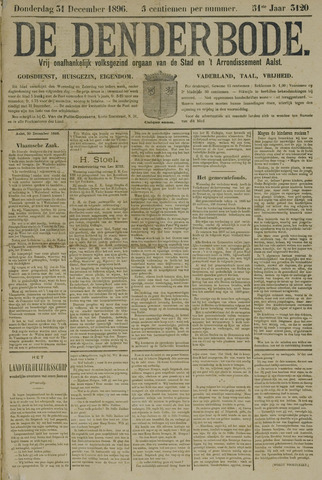 De Denderbode 1896-12-31