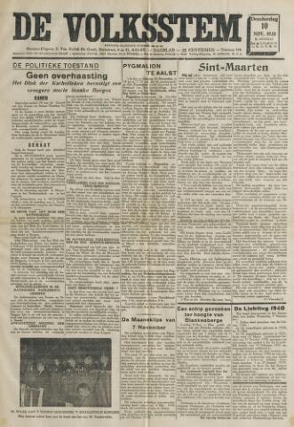 De Volksstem 1938-11-10