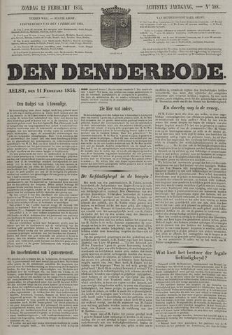 De Denderbode 1854-02-12