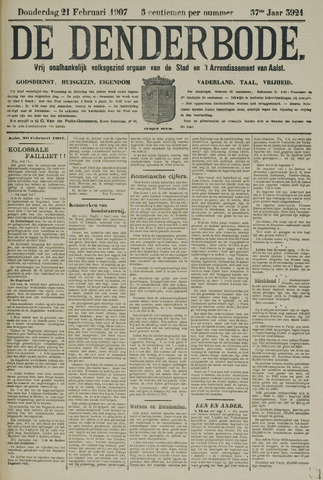 De Denderbode 1907-02-21