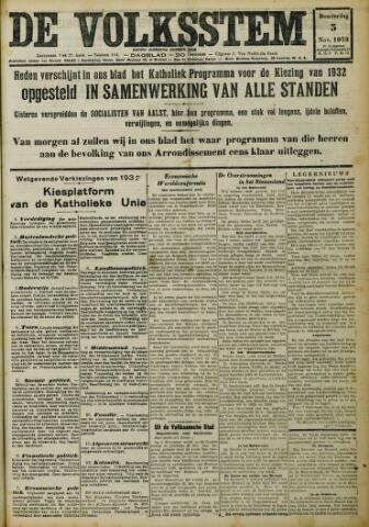 De Volksstem 1932-11-03