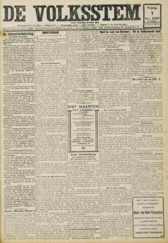 De Volksstem 1930-11-07