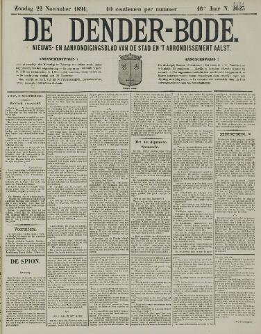 De Denderbode 1891-11-22
